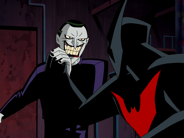 Joker dc animated universe fandom powered by wikia return joker fights the new batman voltagebd Choice Image