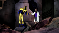 Booster Gold and Tracy