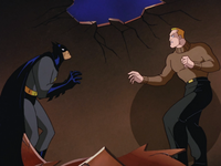 Batman fights Lucas