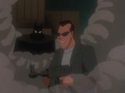 Batman looms