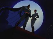 Catwoman and Batman thank each other
