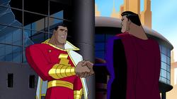 Captain Marvel and Superman meet