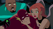 Shayera holds Flash