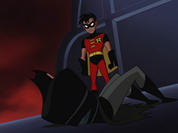 Batman restrained