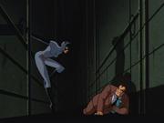 Catwoman corners her prey
