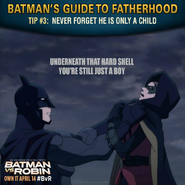 Batman vs. Robin Batman's guide to fatherhood tip 3