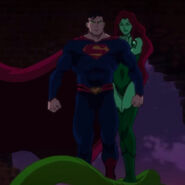 Superman controlled by Poison Ivy