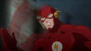 The Flash running at super speed