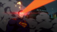 Superman using his heat vision