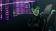 Catwoman in the Batmobile