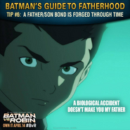 Batman vs. Robin Batman's guide to fatherhood tip 6
