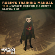 Batman vs. Robin Robin's training manual tip 3