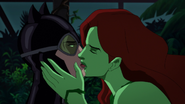 Catwoman and Poison Ivy kiss