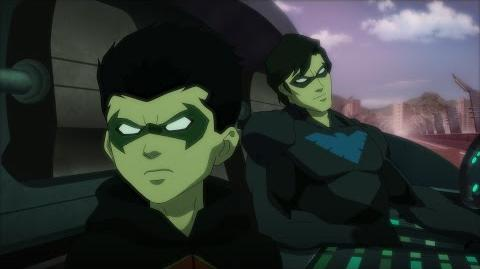 "Justice League vs. Teen Titans clip ""Robin & Nightwing"""
