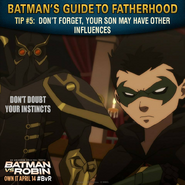 Batman vs. Robin Batman's guide to fatherhood tip 5