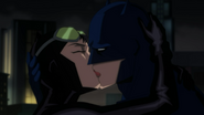 Batman and Catwoman Kiss Close Up