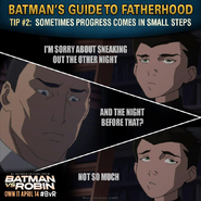Batman vs. Robin Batman's guide to fatherhood tip 2