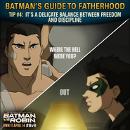 Batman vs. Robin Batman's guide to fatherhood tip 4