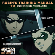 Batman vs. Robin Robin's training manual tip 1