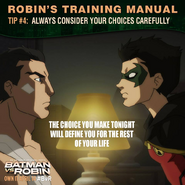 Batman vs. Robin Robin's training manual tip 4