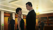 Bruce Wayne and Selina Kyle