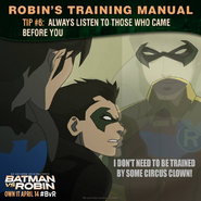Batman vs. Robin Robin's training manual tip 6