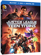 Justice League vs. Teen Titans Blu-Ray Cover