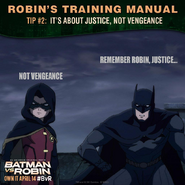 Batman vs. Robin Robin's training manual tip 2