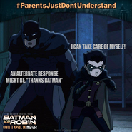 Batman vs. Robin parents just don't understand