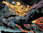 Flash-Reverso atacando o Batman