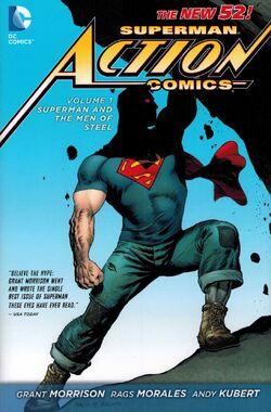 Capa de Action Comics: Superman e os Homens de Aço Trade Paperback