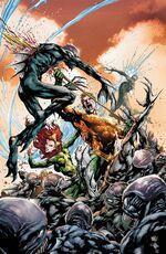 Aquaman e Mera contra o Fosso