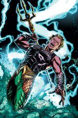 Aquaman carregando as bênçãos de Poseidon