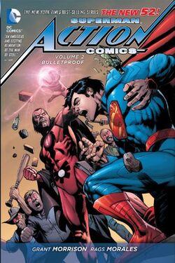 Capa de Action Comics: À Prova de Balas Trade Paperback