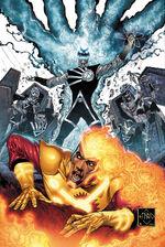 O Lanterna Negro Nuclear ataca Jason.