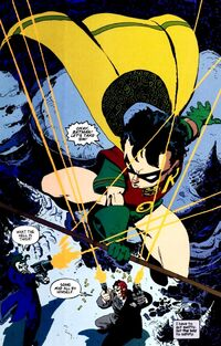 A primeira aparição de Dick Grayson como o Robin.