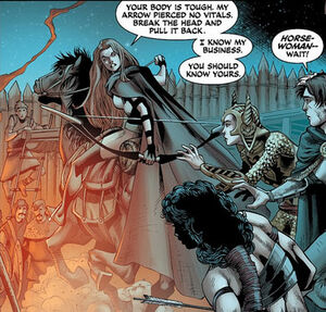 Cavaleira é uma cavaleira e arqueira medieval que teve uma conexão especial com seus cavalos.