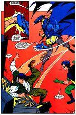 Bruce luta com Azrael na Batcaverna