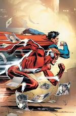 Wally corre com Superman