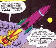 Supergirl's rocket