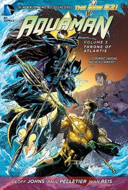 Capa de Aquaman: O Trono da Atlântida Trade Paperback