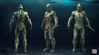 Conceito guarda-Atlante para 'Justice League'