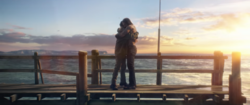 Arthur abraçando seu pai