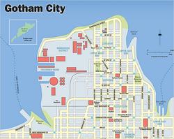 Mapa de Gotham City 1