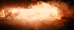 Superman usando visão de calor no Apocalipse