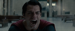 Superman gritando