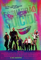 Pôster de 'Suicide Squad' em português