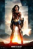 Promocional da Mulher-Maravilha em 'Justice League'