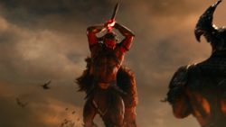 Jovem Ares batalhando