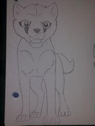 Katy in pup form by nightshade2k16-daa5cjf